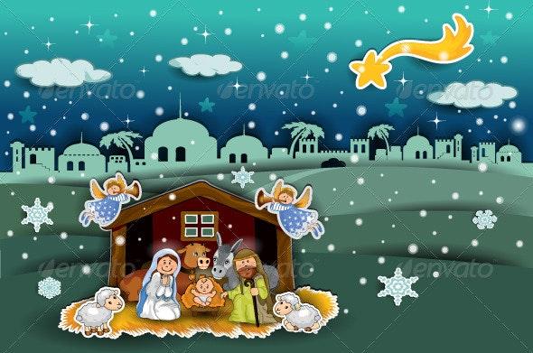Crib Landscape Collage Orizz - Christmas Seasons/Holidays