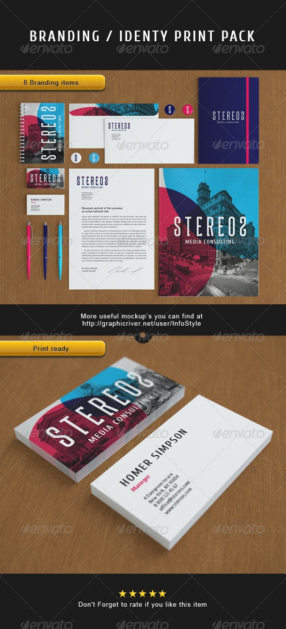 Stereos Vector Branding Print Pack - Stationery Print Templates