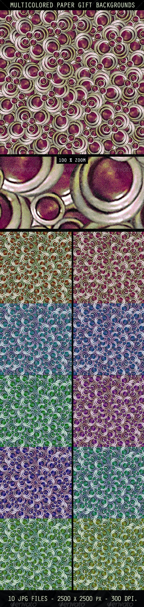Multicolored Paper Gift Backgrounds - Abstract Backgrounds