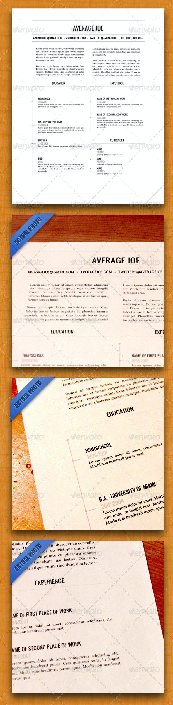 Clean & Modern Resume - Resumes Stationery