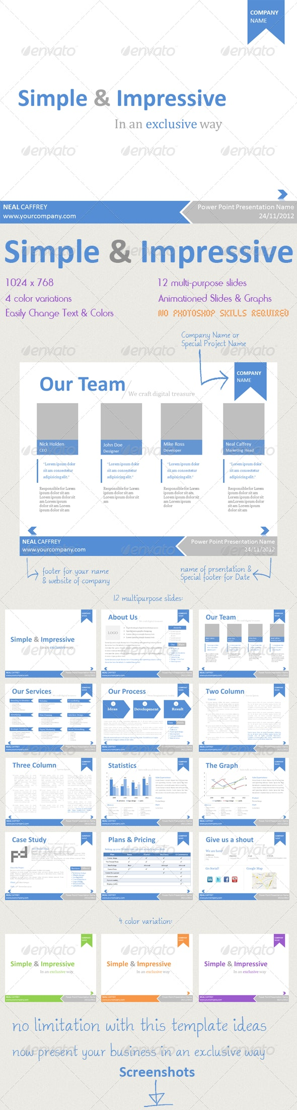 Simple & Impressive PowerPoint Template  - PowerPoint Templates Presentation Templates