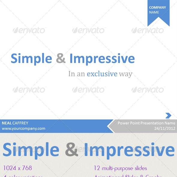 Simple & Impressive PowerPoint Template