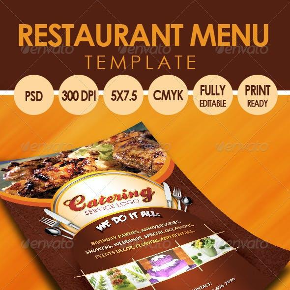 Catering Menu Template (Flyer)
