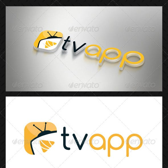 Media Tv Player Logo Template
