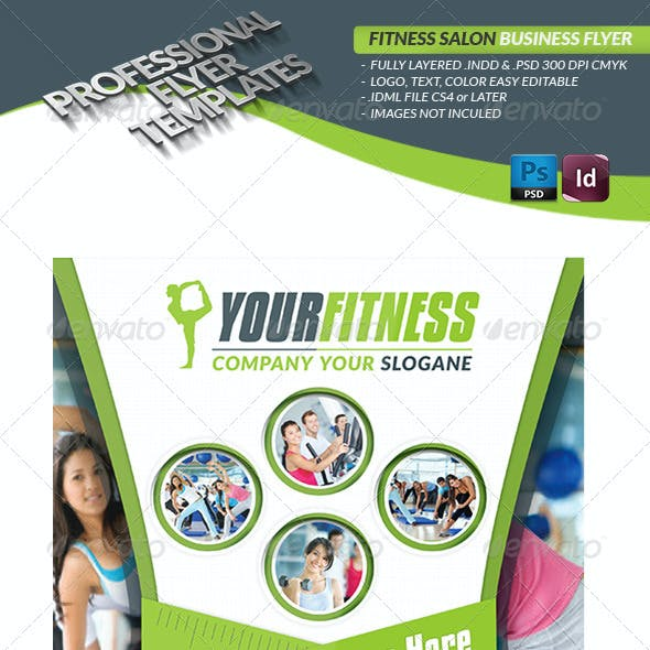 Fitness Salon Business Flyer