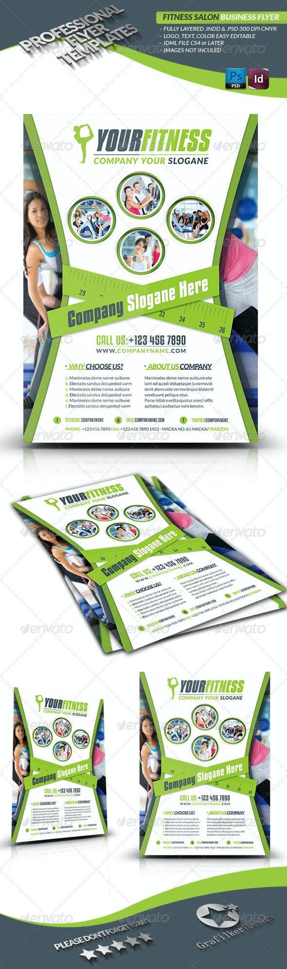 Fitness Salon Business Flyer - Sports Events