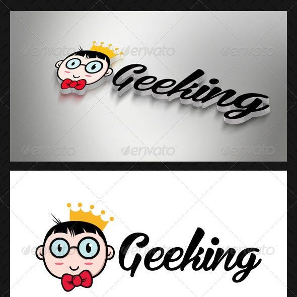Geek King (Geeking) Logo Template
