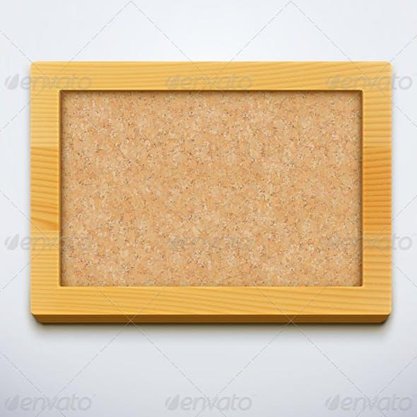 Blank Cork Bulletin Board