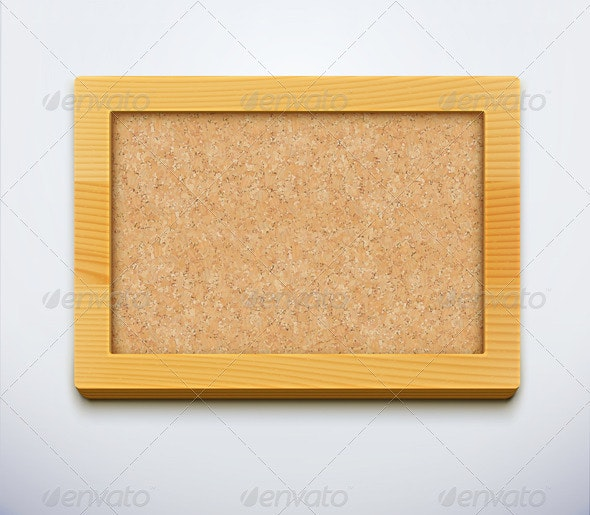 Blank Cork Bulletin Board  - Man-made Objects Objects