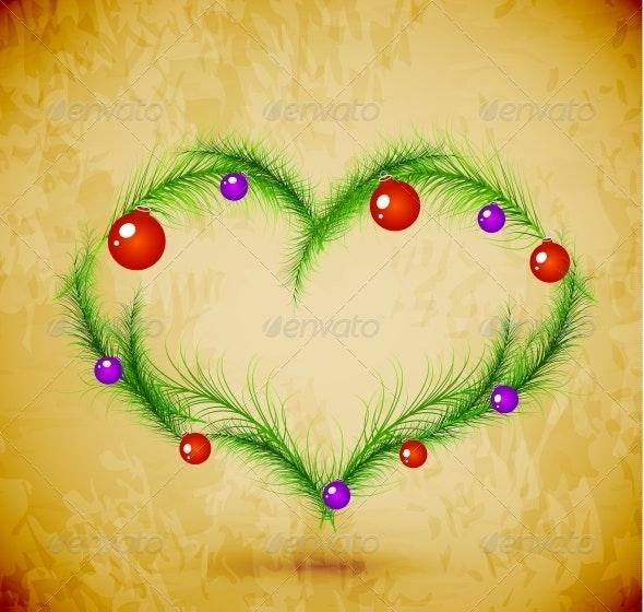 Christmas Love Heart - Christmas Seasons/Holidays