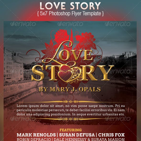 Love Story Flyer Template