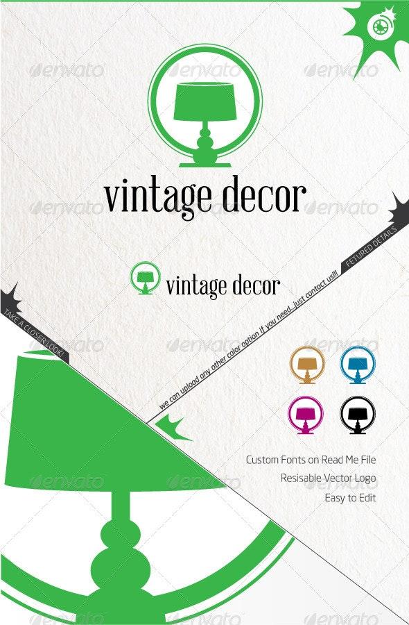 Vintage Decor Logo - Symbols Logo Templates