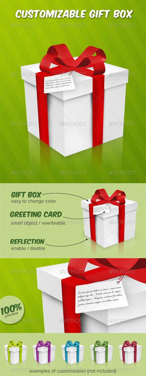 Customizable Gift Box  - Objects Illustrations