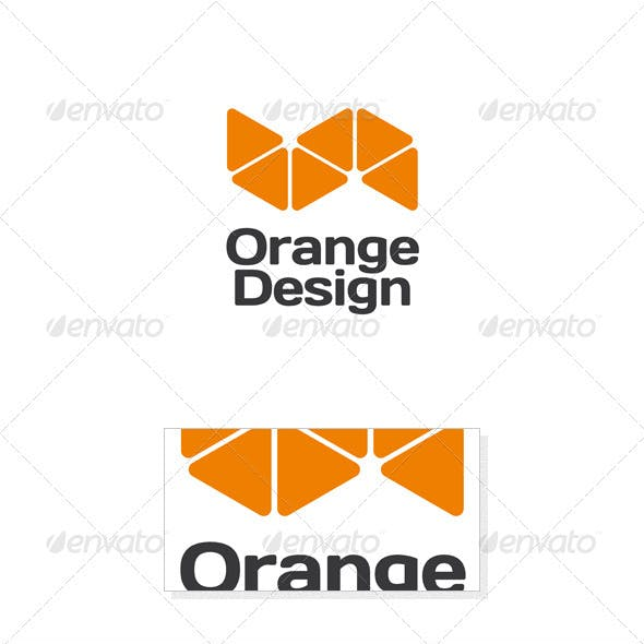Orange Design Logo Template