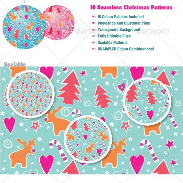 10 Seamless Christmas Patterns