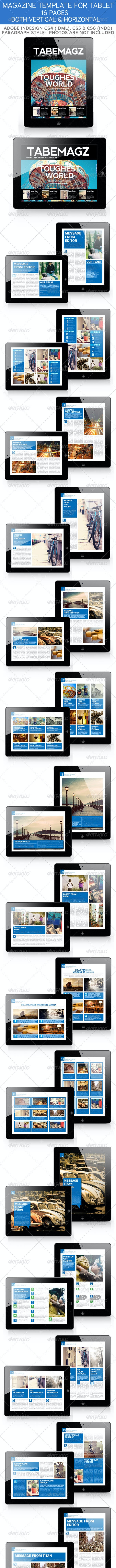Tabemagz Magazine Template for Tablet - Magazines Print Templates