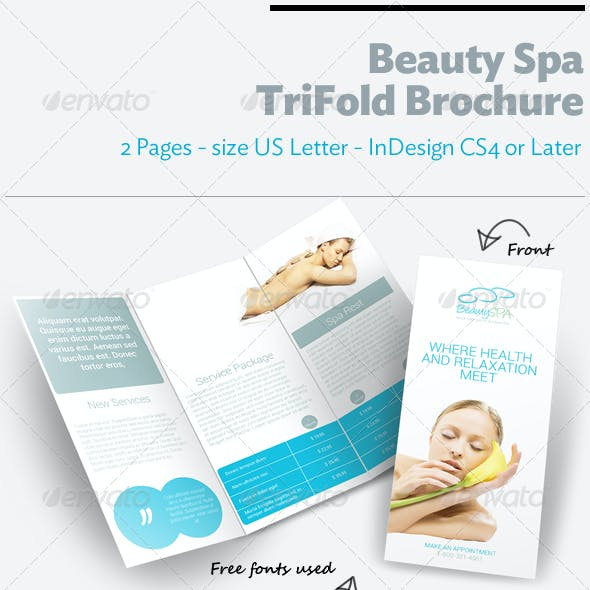 Beauty Spa TriFold Brochure
