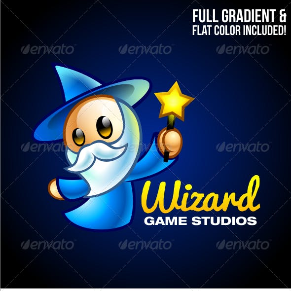 Wizard Game Studios - Cartoon Logo