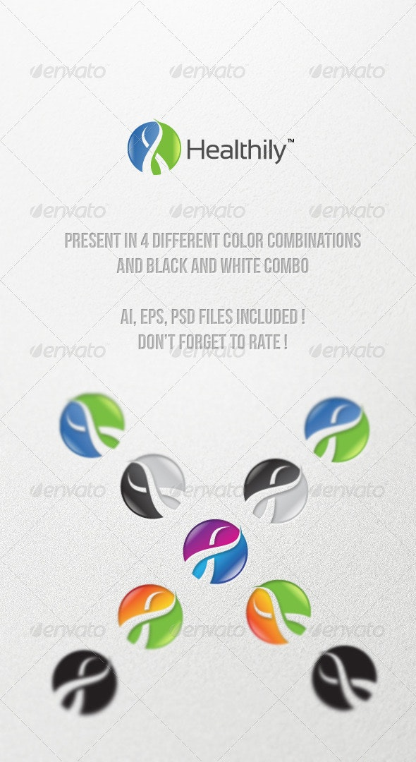 Healthily - Abstract Logo Templates