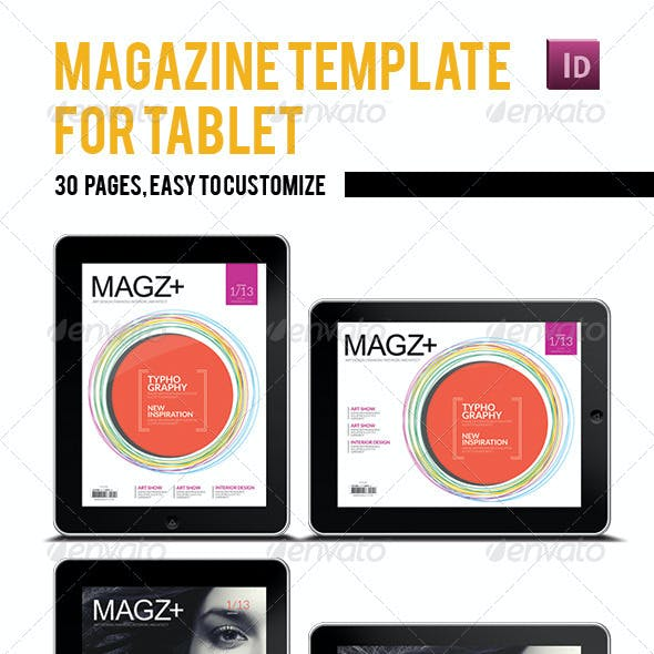 Tablet Magazine Template