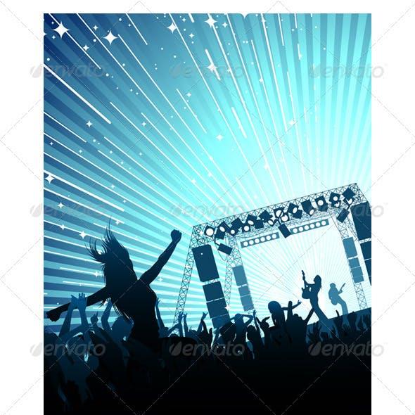 Vector Concert Crowd