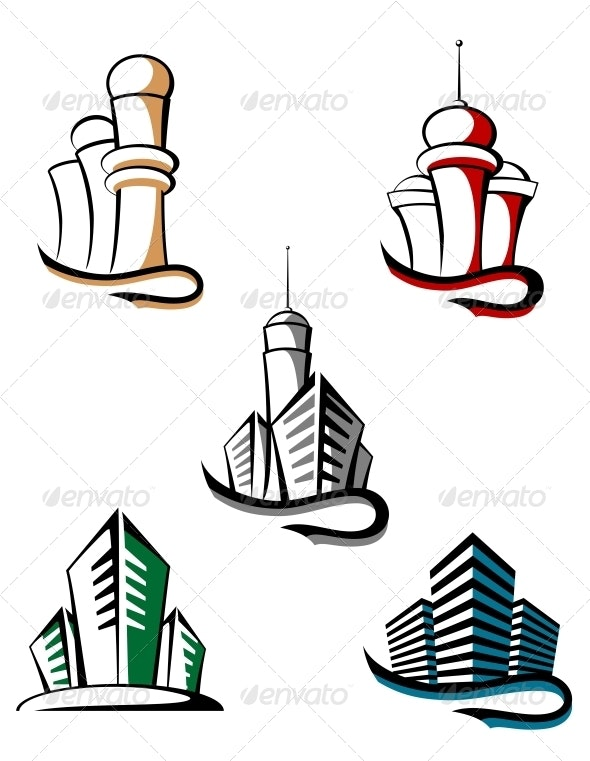 Real Estate Symbols - Buildings Objects