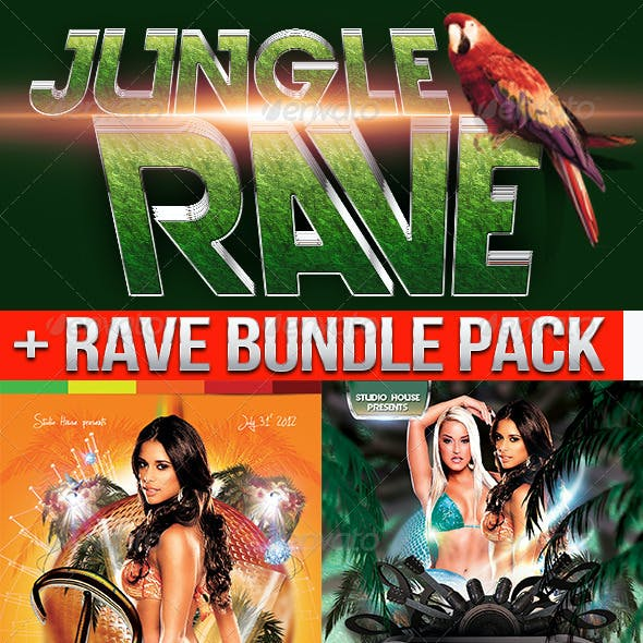 Rave Ultra Party flyer bundle