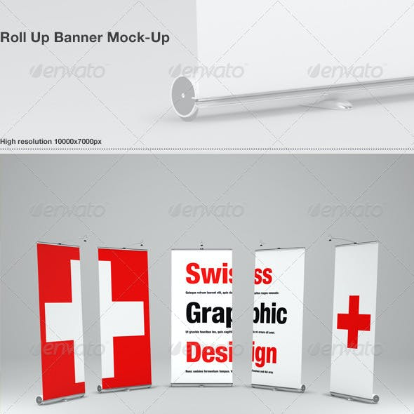 Roll Up Banner Mock-Up