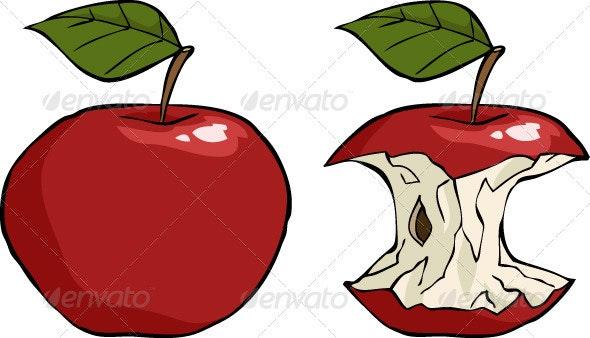 Apple Core - Food Objects