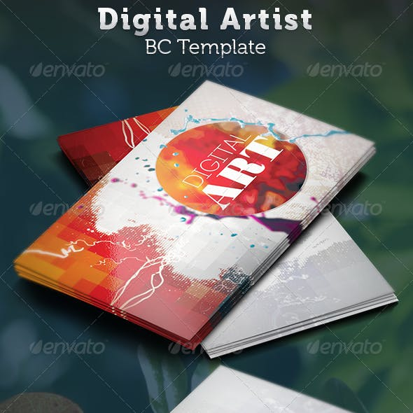 Digital Artist Business Card Template