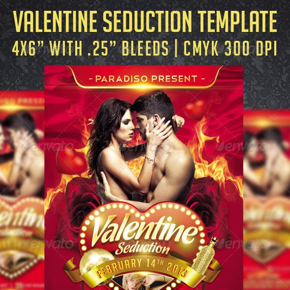 Valentine Seduction Flyer Template