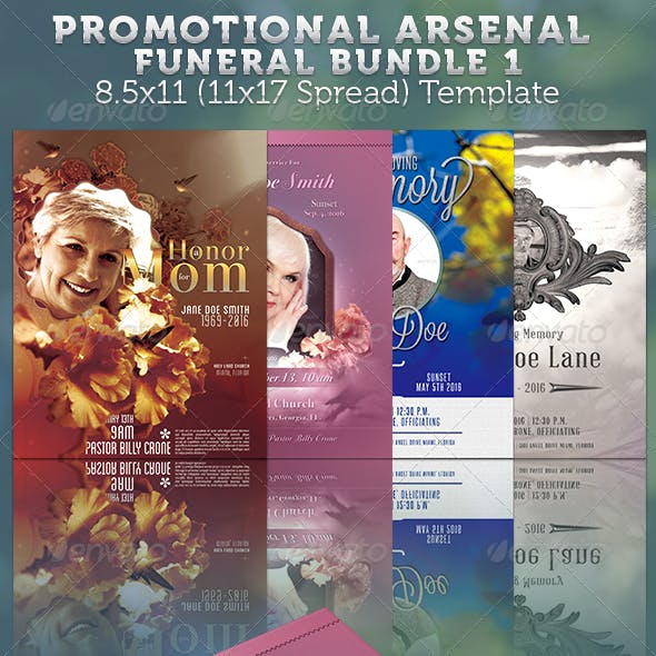 Promotional Arsenal Funeral Program Bundle 1