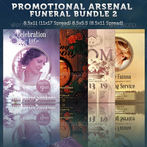 Promotional Arsenal Funeral Program Bundle 2