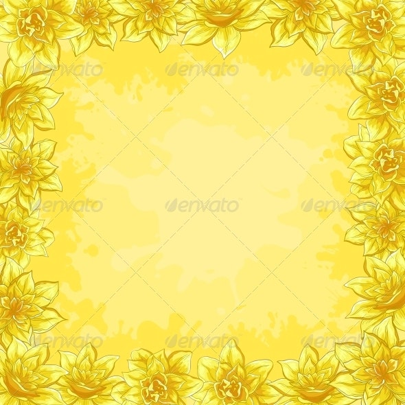 Background, Frame from Flowers - Backgrounds Decorative
