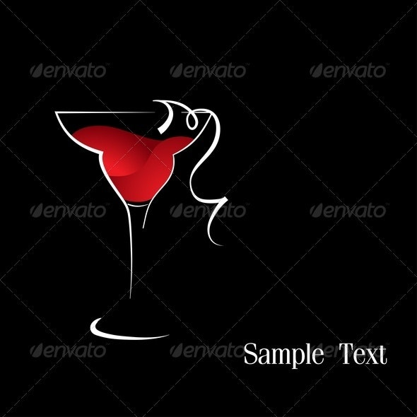 Red Wine - Food Objects