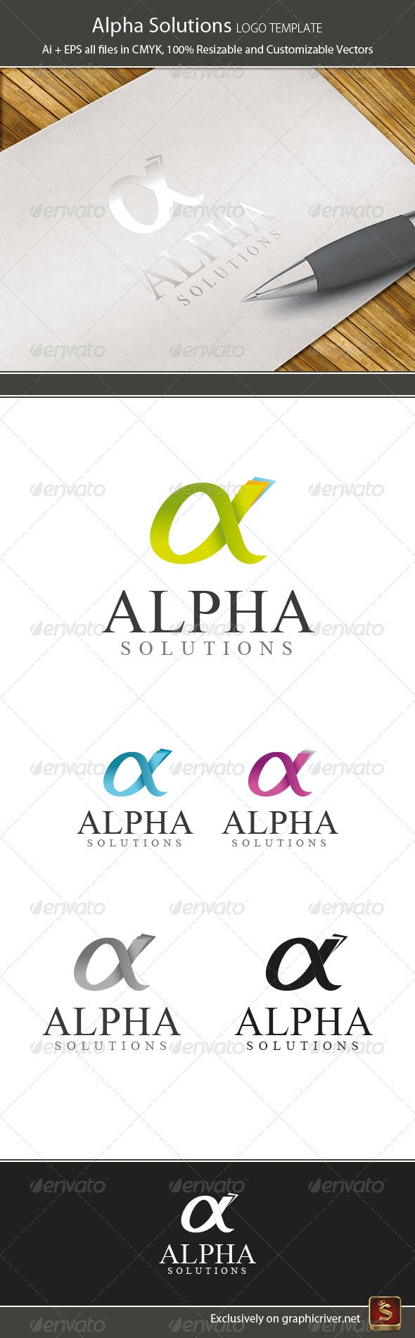 Alpha Logo Template - Letters Logo Templates