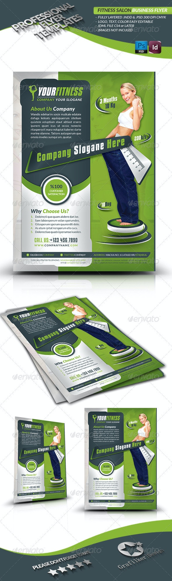 Fitness Center Business Flyer - Corporate Flyers