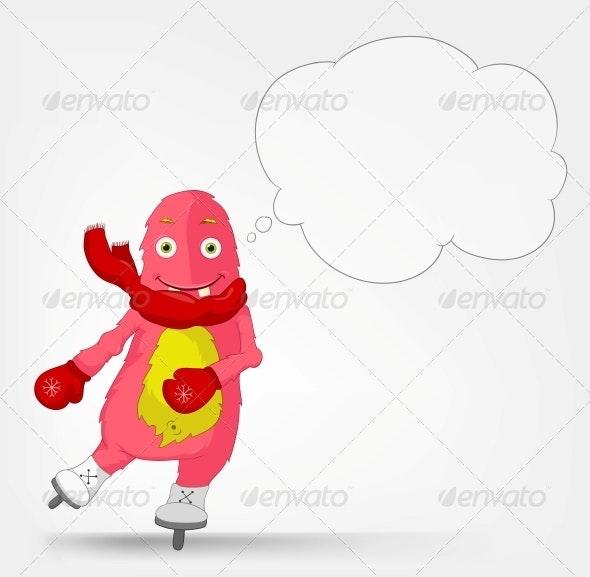 Funny Monster - Skater - Monsters Characters