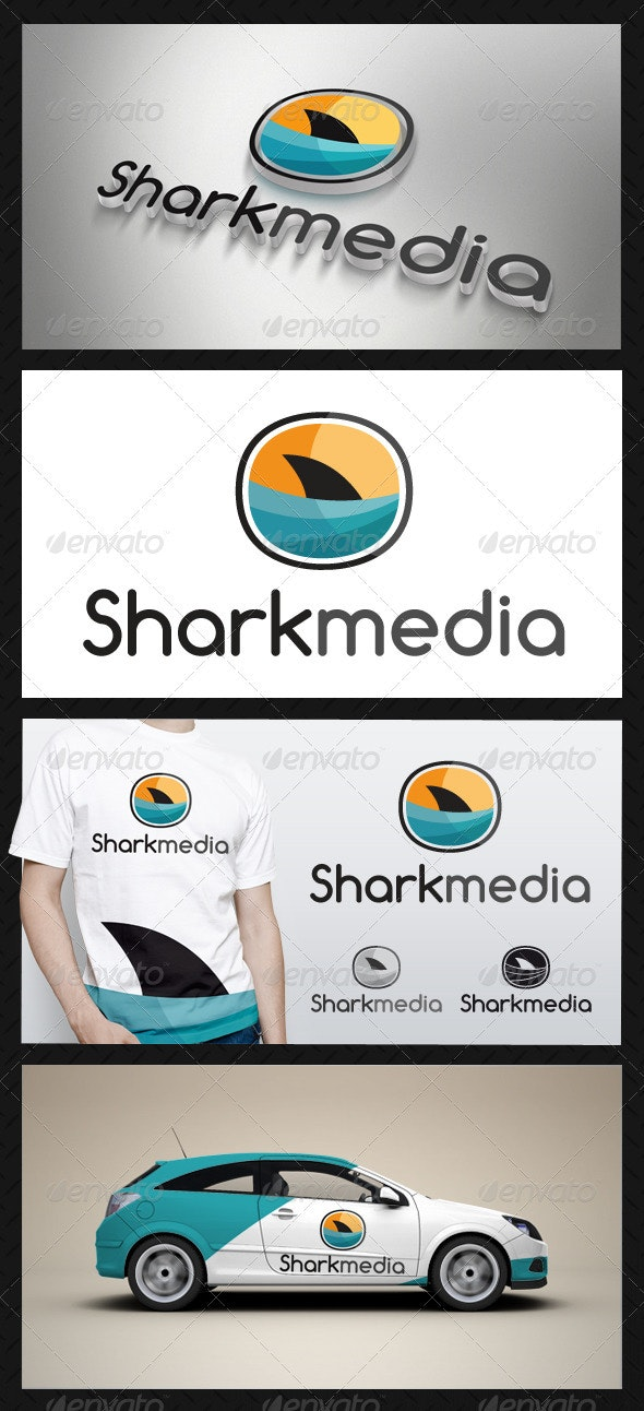 Shark Media Logo - Animals Logo Templates