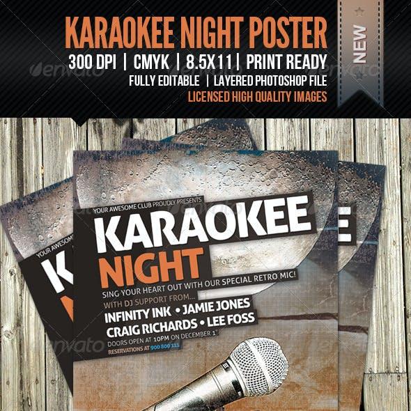 KaraoKEE Night Poster