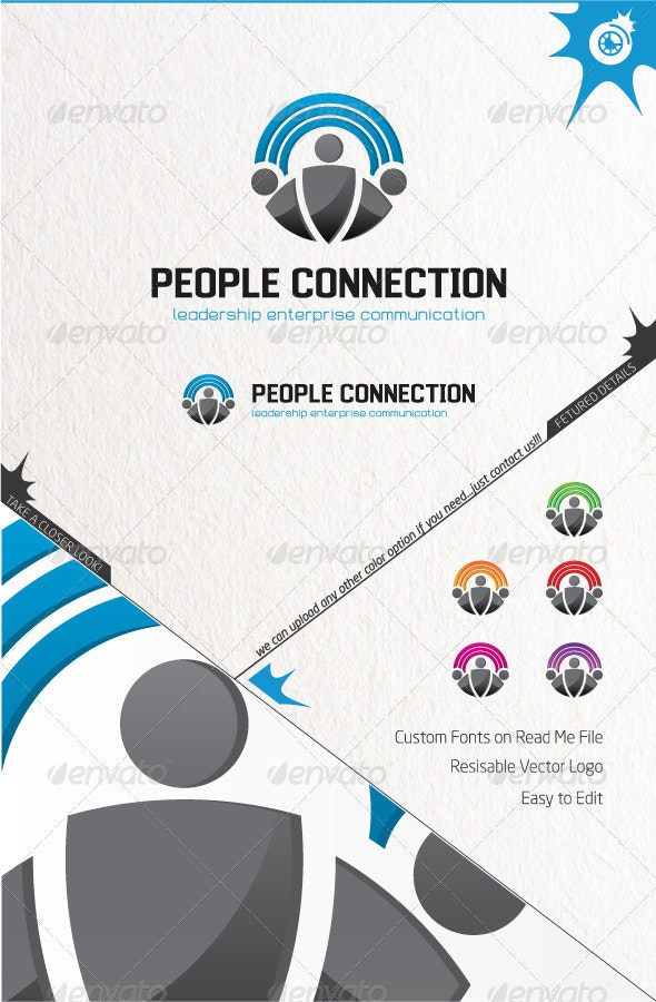 People Connection - Humans Logo Templates