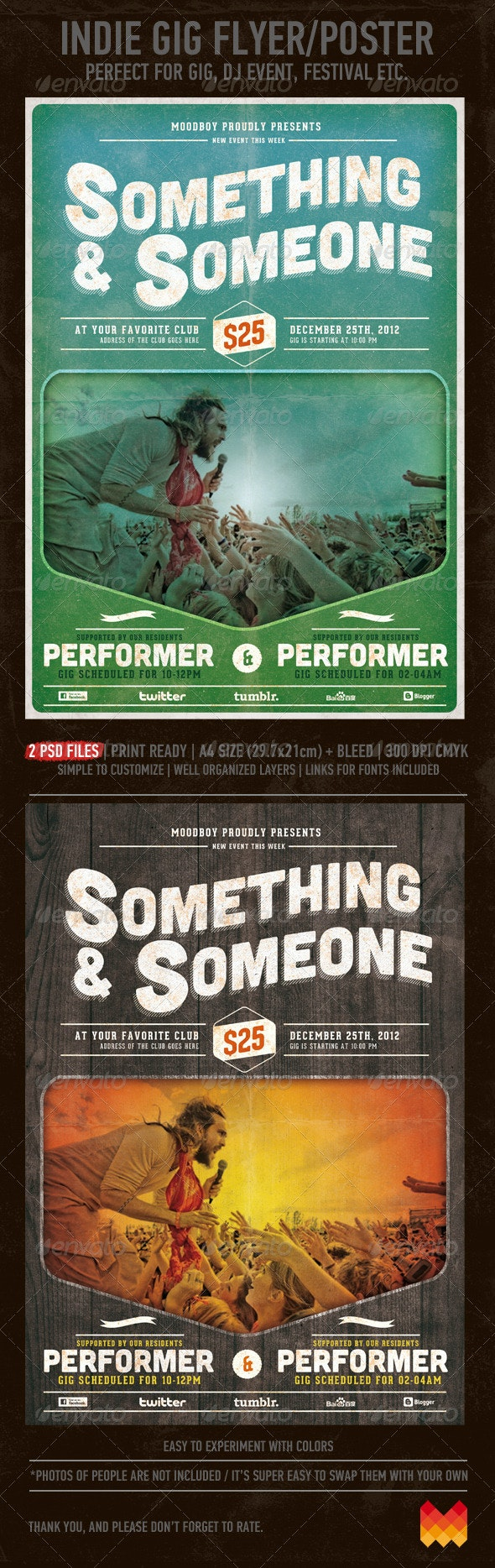 Indie Gig Flyer/Poster - Events Flyers