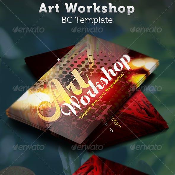 Art Workshop Business Card Template