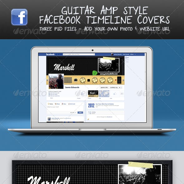 Guitar Amp Head FB Timeline Covers