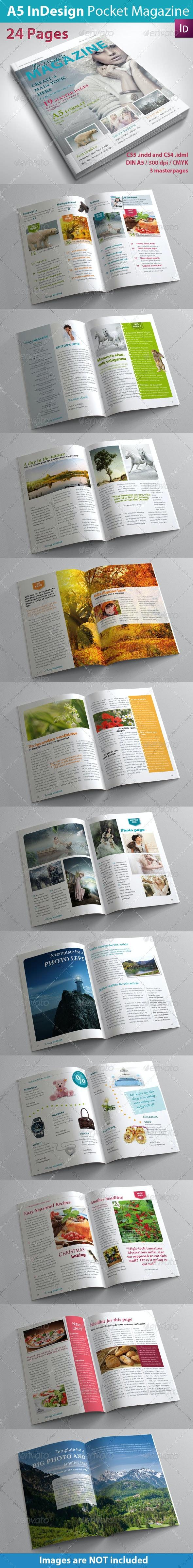 A5 InDesign Magazine - Magazines Print Templates