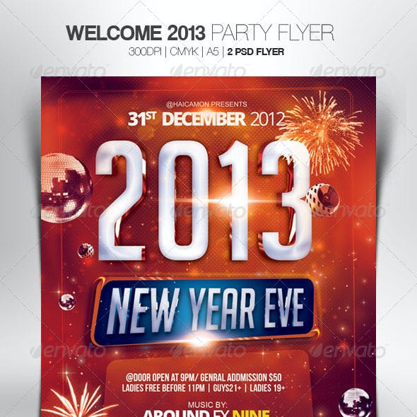 Welcome 2013 Party Flyer