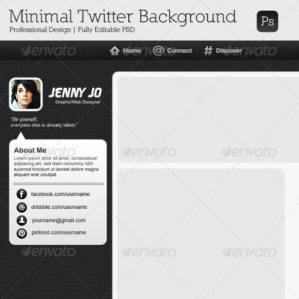Minimal Twitter Background V6