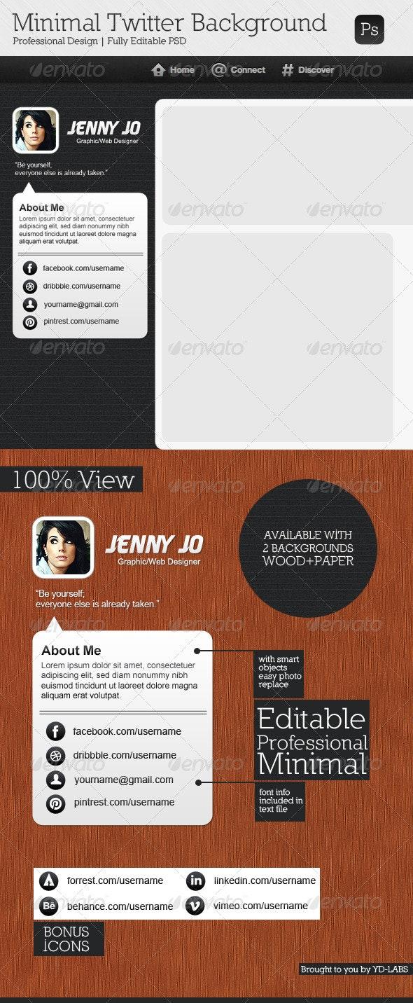 Minimal Twitter Background V6 - Twitter Social Media