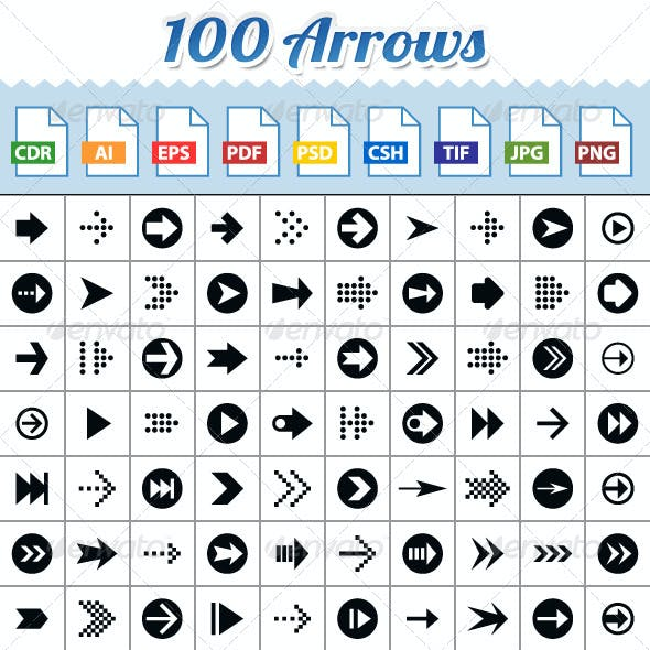 100 Arrow Set. Volume 01. Black Version