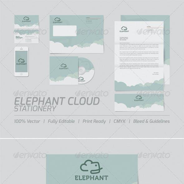 Elephant Cloud Stationery